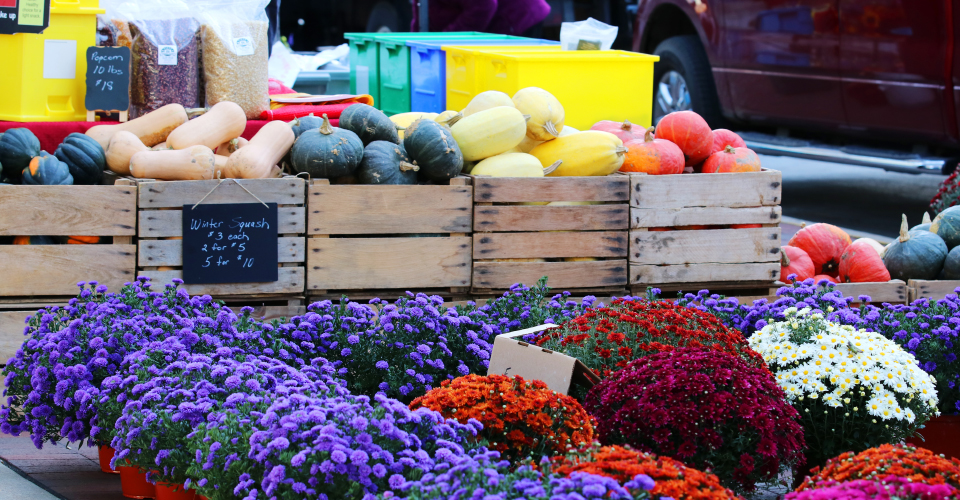 Local farmers and food producers are just six blocks away twice a week at the Dane County Farmers Market. The joy of bringing home a fresh bouquet, something organic and something special from Wisconsin is nearby.
